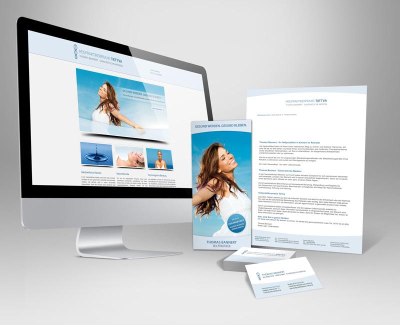 Unser besonderer Service für Existenzgründer: Starter-Paket bestehend aus Logo, Visitenkarte, Briefpapier, Flyer und einer Oneside-Homepage.
