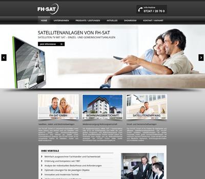 FH-SAT GmbH Linkenheim - Satellitenanlagen, Kabelfernsehen und Multimediatechnik sowie Business TV, Internet via Satellit, VSAT-Systeme und Heimnetzwerke.