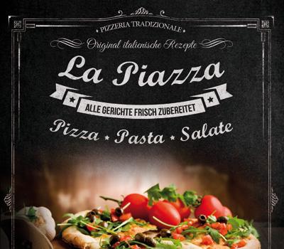 Pizzeria Imbiss La Piazza in Bruchsal (Heidelsheim) - Pizza, Pasta und Salate nach Original italienischen Rezepten. Alle Gerichte werden frisch zubereitet.