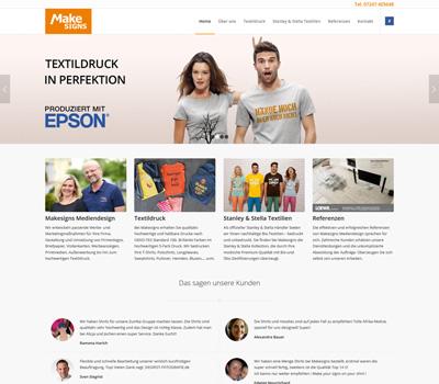 Makesigns Mediendesign in Linkenheim - Homepage im Responsive Design